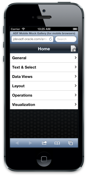Demo running in mobile Safari